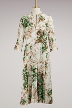 Prada Printed long sleeves dress