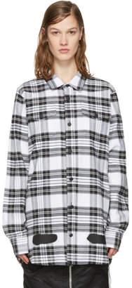 Off-White White Check Diagonal Spray Shirt