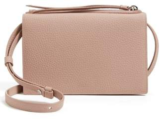AllSaints Fetch Leather Crossbody Wallet