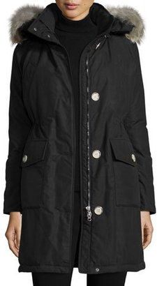 Woolrich Long Hooded Arctic Parka Coat w/ Coyote Fur, New Black $795 thestylecure.com