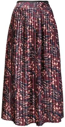 Victoria Beckham Victoria printed pleated skirt