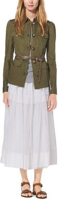 Michael Kors Tiered Cotton-Organdy Maxi Skirt