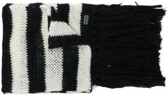 Saint Laurent striped scarf