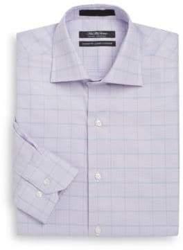 Saks Fifth Avenue Classic-Fit Plaid Cotton Dress Shirt
