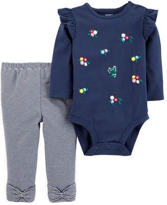 Carter's 2pc Bodysuit Pant Set-Baby Girl