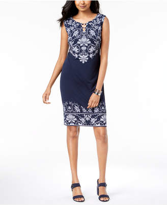 JM Collection Embellished Keyhole Dress, Created for Macy's