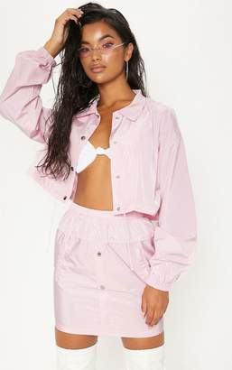 PrettyLittleThing Pink Shell Suit Jacket