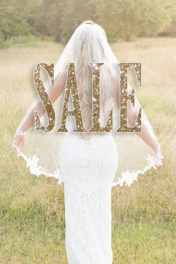 Etsy Wedding Veil - Lace Appliques