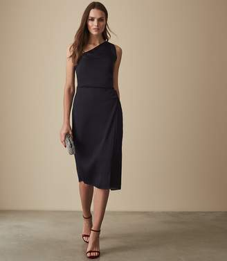 Reiss POSITANO STRAPPY COCKTAIL DRESS Navy