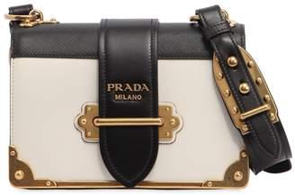 Prada Cahier Color Block Leather Shoulder Bag