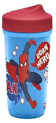 Zak Designs Zak! Designs Toddlerific Perfect Flo Toddler Cup with Ultimate Spiderman, Double Wall Insulated Construction and Adjustable Flow Technology, Break-resistant and BPA-free Plastic, 8.7oz.