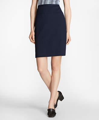 Brooks Brothers Petite Stretch Cotton Jacquard Skirt