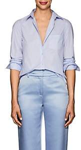 Barneys New York Women's Cotton Poplin Shirt - Blue