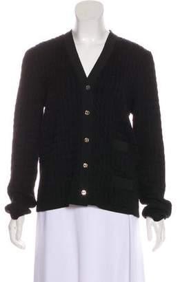 Salvatore Ferragamo Wool Button-Up Cardigan