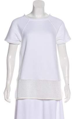 Alexander Wang Short Sleeve Scoop Neck Sweatshirt