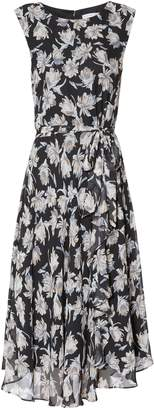 Next Womens Gina Bacconi Black Shilah Chiffon Print Dress