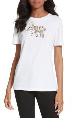Women's Tory Burch Dahlia Embellished Tee $158 thestylecure.com