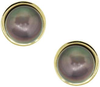 One Kings Lane Vintage Gold & Tahitian Pearl Cuff Links