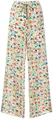 RED Valentino flared printed trousers