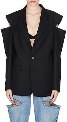Maison Margiela Women's Cutout Wool Oversized Three-Button Blazer