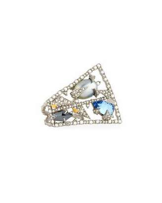 Alexis Bittar Crystal Lace Fan Ring - Sz 7 $295 thestylecure.com
