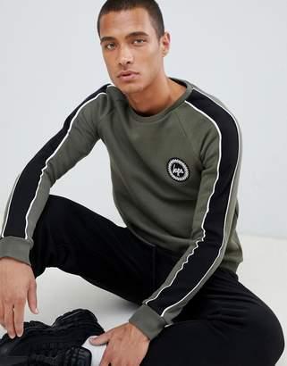 Hype sweatshirt in khaki with side stripe