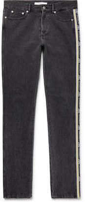 Givenchy Slim-fit Logo Jacquard-trimmed Denim Jeans