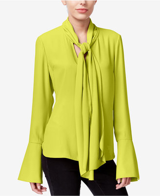 RACHEL Rachel Roy Tie-Neck Bell-Sleeve Blouse, Only at Macy's $89 thestylecure.com