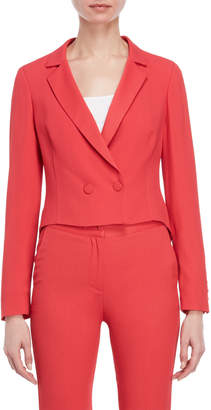 Atos Lombardini Double-Breasted Cropped Blazer