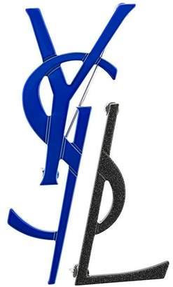 Saint Laurent Monogram deconstructed brooch