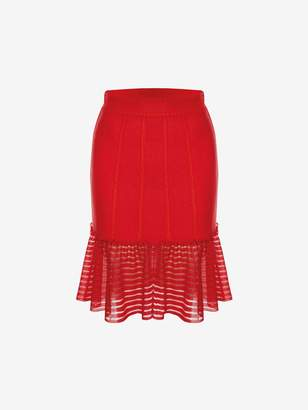 Alexander McQueen Sheer Knit Mini Skirt