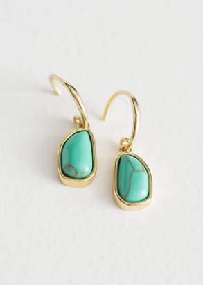 Hanging Turquoise Stone Earrings