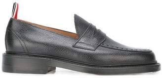 28fa9a5cbdc Thom Browne Penny Loafer With Leather Sole In Black Pebble Grain