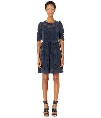 See by Chloe Velvet Knit Drawstring Dress