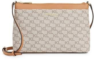 Karl Lagerfeld Paris Adele Monogram Crossbody Bag