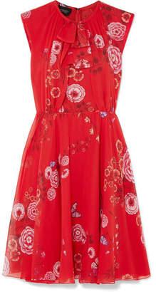 Giambattista Valli Floral-print Silk-georgette Mini Dress - Red