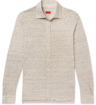 Isaia Mélange Slub Linen Shirt