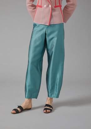 Giorgio Armani Oversized Silk Ottoman Trousers