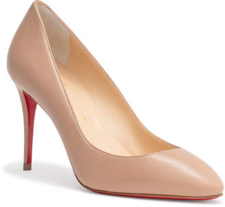 Christian Louboutin Eloise 85 Beige Leather Pumps