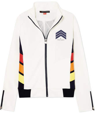 Perfect Moment - Printed Jersey Track Jacket - White