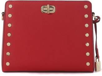 Michael Kors Sylvie Leather Messenger Bag With Studs