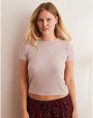 aerie Real SoftRibbed Baby Tee