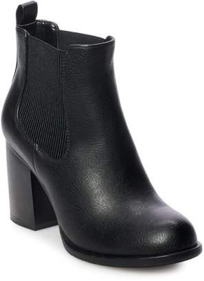 So SO Sundial Women's High Heel Chelsea Boots