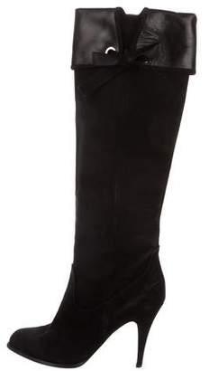 Alberta Ferretti Suede Knee-High Boots