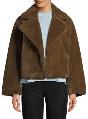 Vince Plush Faux-Fur Coat
