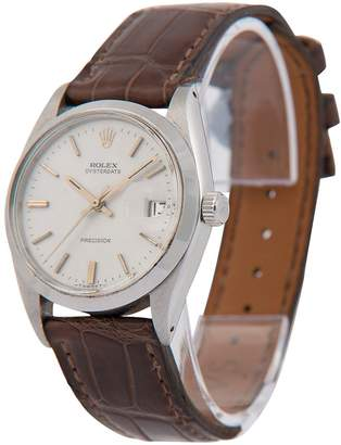 Pre-Owned Gents Oysterdate Steel Watch. Light Grey Gold Baton Dial. Ref 6694