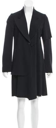 MM6 MAISON MARGIELA MM6 by Maison Martin Margiela Raw-Edge-Trimmed Knee-Length Coat