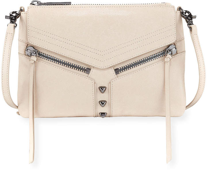 Botkier Trigger Leather Crossbody Bag, Cream