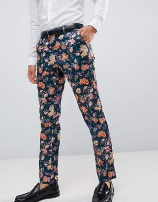 Asos Design DESIGN skinny smart pant with floral print