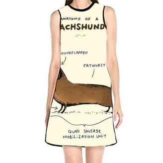 BOBOSELL Women's Sleeveless Print T Shirt Dress Tank Sundress